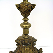 Repousse Pricket Stick now as a Lamp