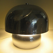 Chrome Mid Century Lamp and Shade Laurel