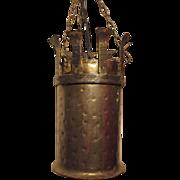 Iron Gothic Lantern with Pounded Finish