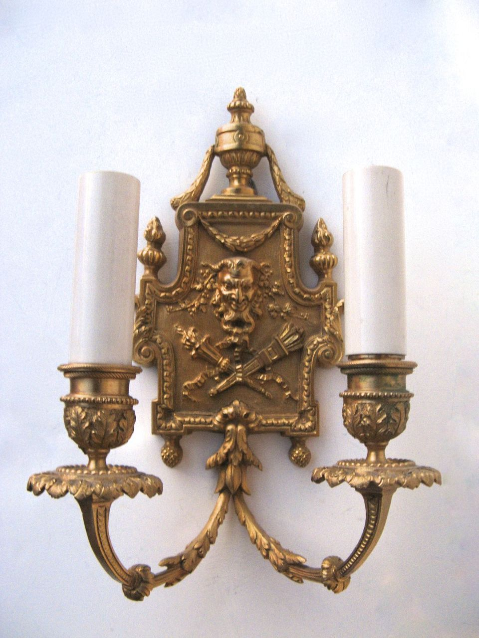 Two Arm Ormolu Wall Sconce North Wind