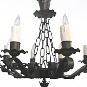 Wrought Iron Chandelier Eight Arms
