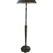Black Lacquered Chinoiserie Floor Lamp
