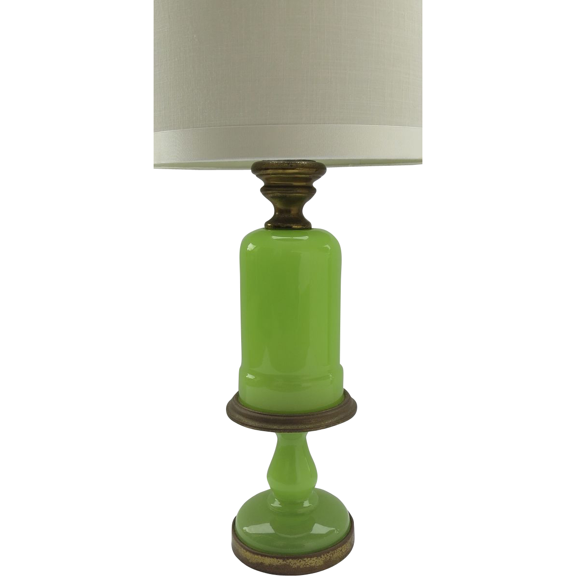 vintage lime green opaline lamp by paul hanson from blacktulip on ruby. Black Bedroom Furniture Sets. Home Design Ideas