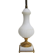 Vintage German Marble Lamp with Ormolu Mounts