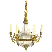Very High Quality Empire Style Chandelier Crystal Ormolu Bronze Dore