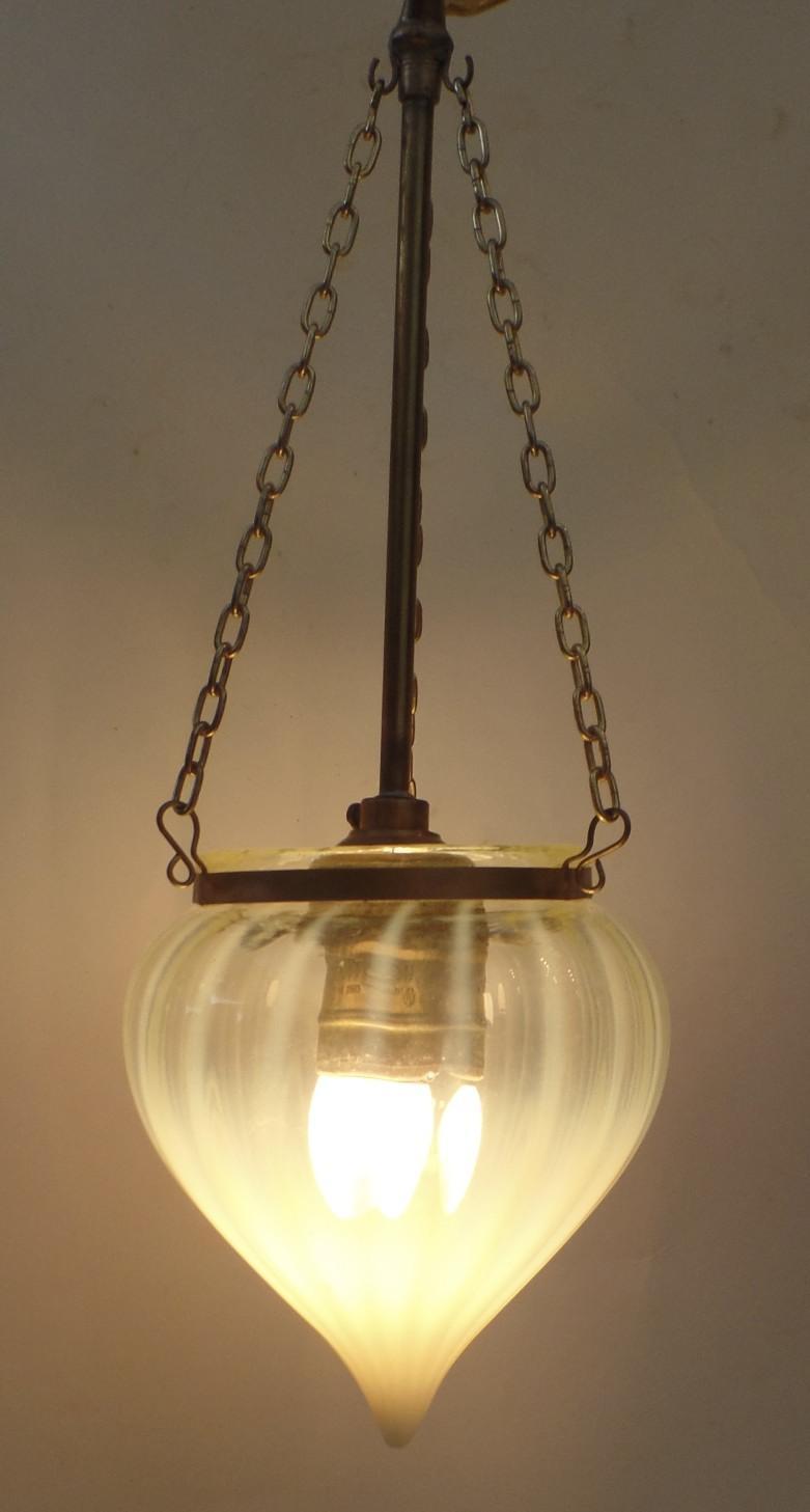 Vaseline Glass Mini Chandelier Shade Pendent Light from