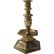 Fabulous 17th Century Brass Candlestick Medial Drip Ex: Adolph Meyer Collection Sotheby's Auction1996