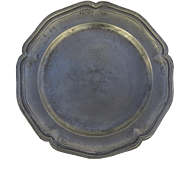 19th Century Pewter Shaped Edge Plate