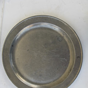English Large Pewter Charger