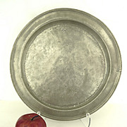 Large English Pewter Shallow Bowl 18th Century