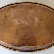 English Copper Oval Pan Mid 19th Century