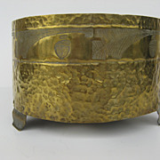 Arts and Crafts Brass Planter