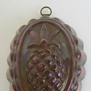 Vintage Copper Food Mold Tin Lined Pineapple