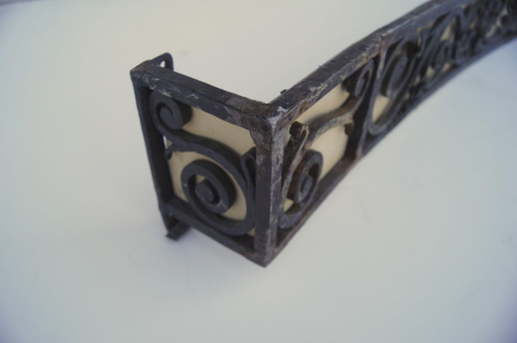 Wrought Iron Cornice : Wrought iron circular curved cornice c sold on ruby lane