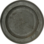 18th century Pewter Plate by the Master Pewter Maker Henry Joseph