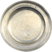19th English Century  Pewter Charger with Touch Marks
