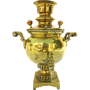 Brass Samovar with Square and Bracket Base