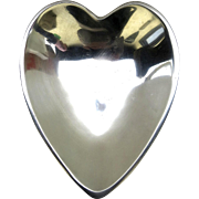 Large Vintage Nambé 119 Heart Shaped Aluminum Bowl