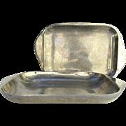 Vintage Large Metal Nambé Casserole Dish with Lid