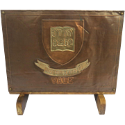 """Vintage Cooper Magazine Stand """"Yale University"""" Signed by the Maker Henry W. Longfellow"""