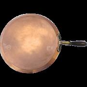 "Vintage Leumas Copper Large Flat Skillet Crepe Pan 14"""