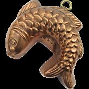 Vintage Copper Small Fish Mold 1950's 1960's