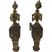 Vintage Small French Classical Andirons