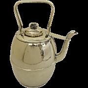 "English 19th Century Large  Brass Ale Milk Jug Kettle Pat'd 16"" tall"