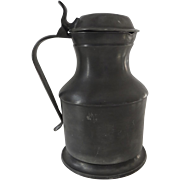 Vintage Older Pewter ENGLISH Pewter Lidded Flagon Tankard Pitcher
