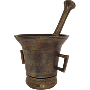 19th Century Bronze Mortar and Pestle