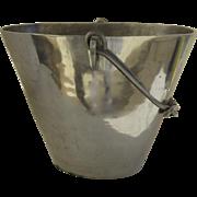 Vintage Cast Metal Oval Wine Bucket Cooler with Handle