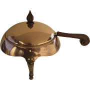 Mid-Century Copper Chafing Dish by J. C. Moore Coppersmith, California