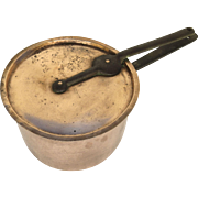 19th Century French Copper Sauce Pan with Iron Handles