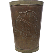 Vintage Copper Harvest Bin, Tin-Lined 19th Century, European