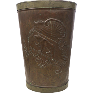 Vintage Copper Harvest Bin, Tin-Lined 19th Century, European