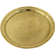 19th Century Handmade Brass Small Round Tray