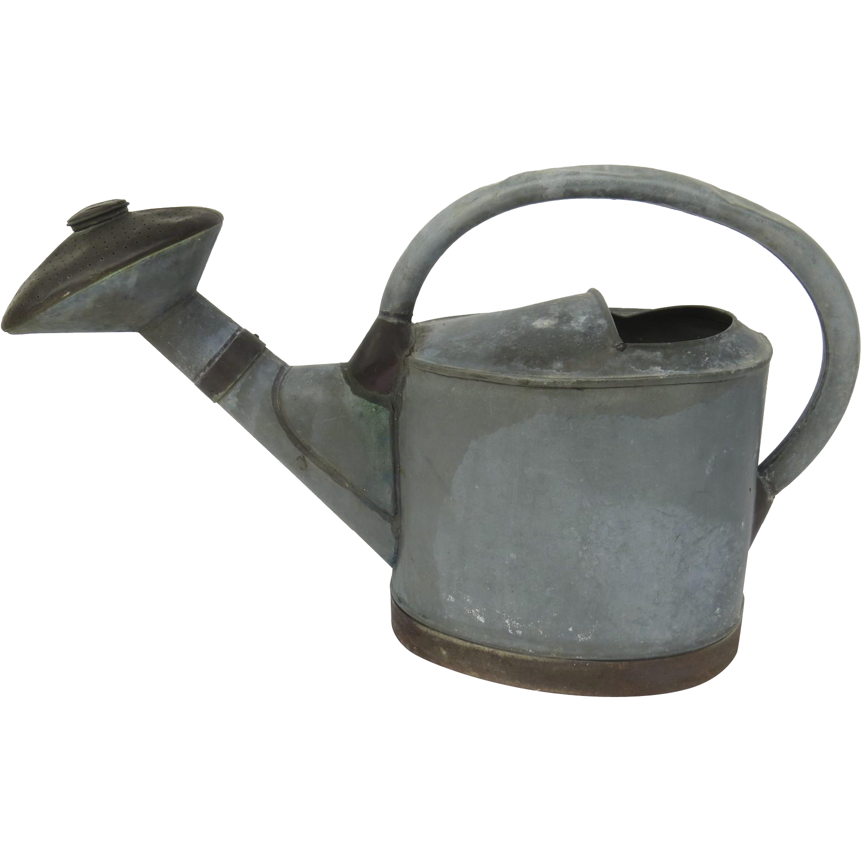 "Early 19th Century French Watering Can Zinc and Copper, ""A G Depose"""