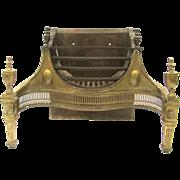 19th Century Fireplace Basket Grate Andirons Insert Louis XVI Style