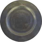 """10"""" Pewter Charger Plate Owner's Initials"""