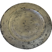 English Pewter Plate Marked IMS