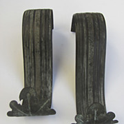 Pair of French Curtain Tie Backs Beautiful Patina