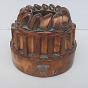 English Copper Culinary Food Mold 19th Century Antique