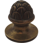 Cast Brass Finial Artichoke Foundry Mark 19th Century