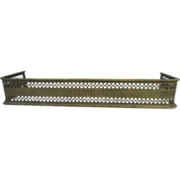 English Pierced Brass Fireplace Fender