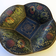 Tole Stencil Decorated 19th Century Bowl
