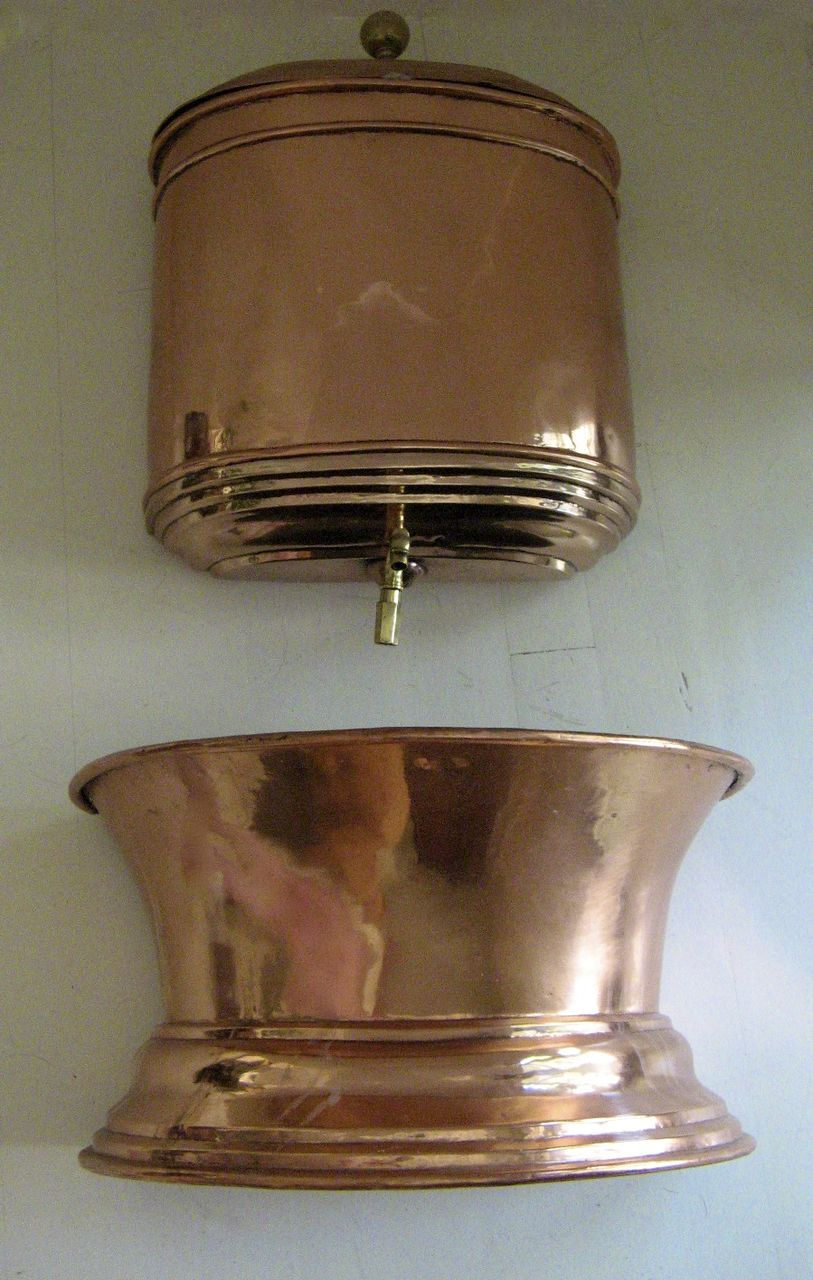 Copper and brass french lavabo sold on ruby lane - Lavabo in english ...