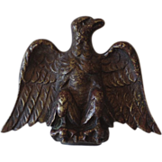 Sand Cast Brass Eagle Finial Flag Pole Late 19th Century Early 20th