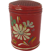 Vintage Red Painted Kitchen Shaker Powder Sugar Cinnamon Mid Century