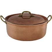 Vintage Copper Tagus Portugal Stock Pot Dutch Oven