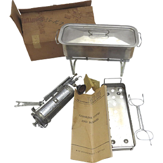 WWII Coleman Medical Sterilizer in Box New Old Stock with War Department Manuel TM 8-615